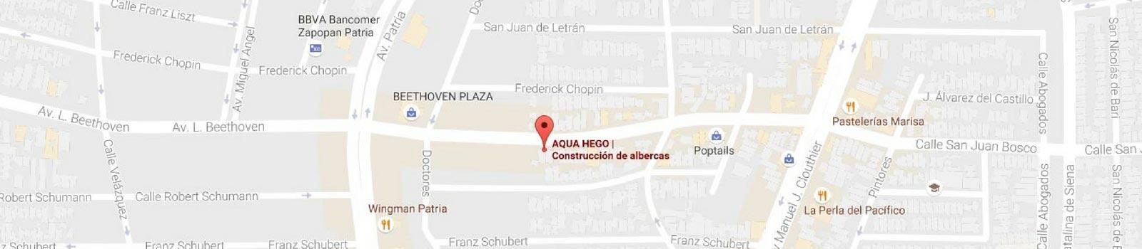 Google Maps Filtros para Albercas